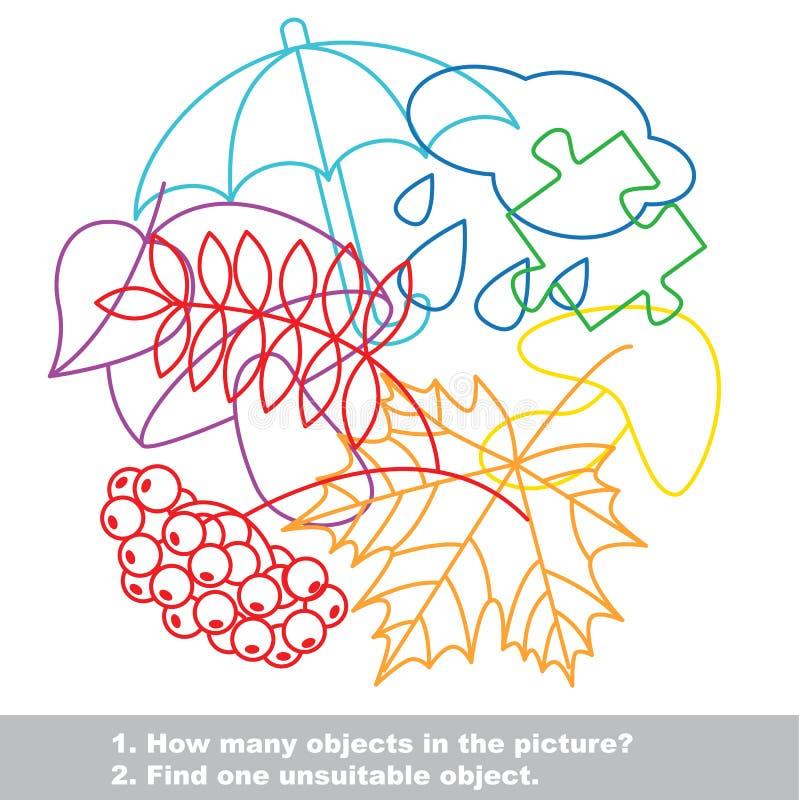 Ensemble coloré de méli-mélo d'automne dans le vecteur illustration libre de droits