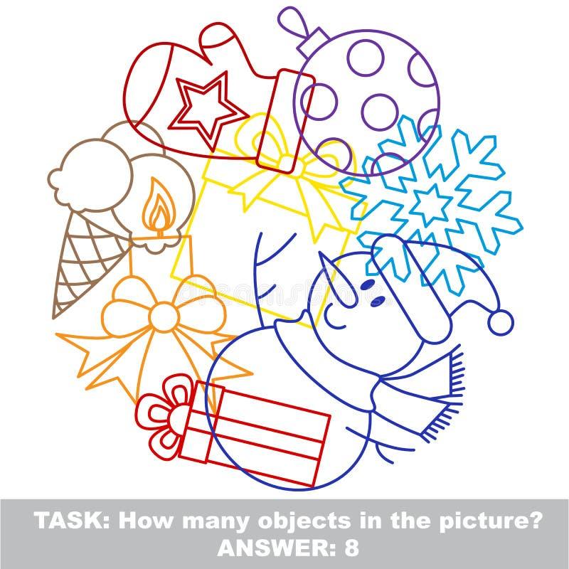 Ensemble coloré de méli-mélo de jouet de garçon dans le vecteur illustration libre de droits