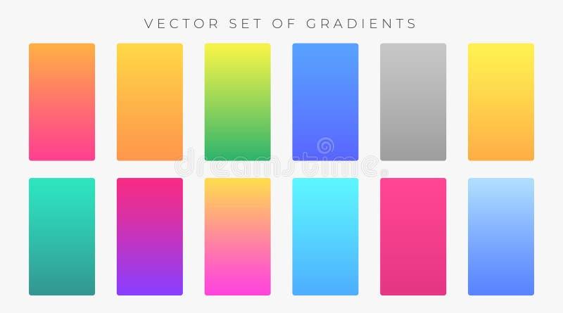 Ensemble coloré vibrant d'échantillons de gradients illustration libre de droits
