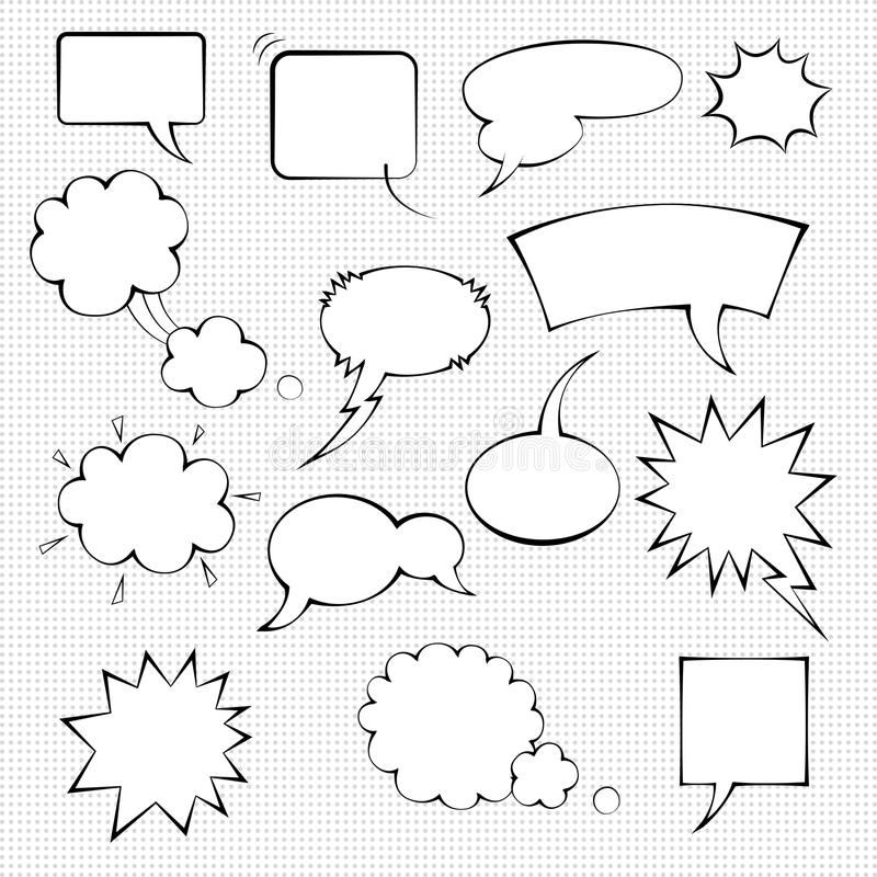 Ensemble comique de bulle de la parole illustration de vecteur