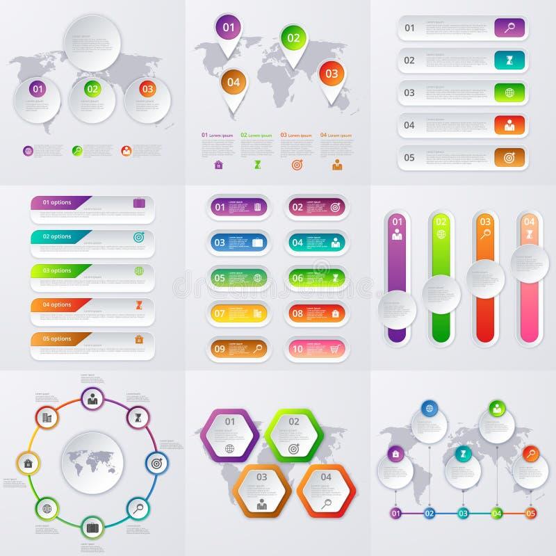 Ensemble courant de vecteur d'infographics illustration de vecteur
