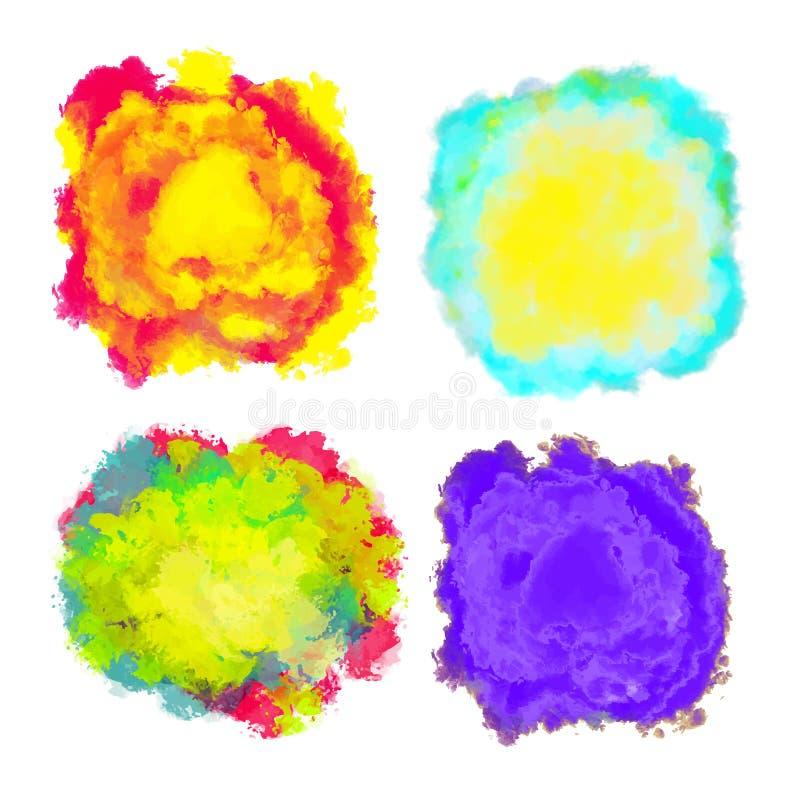 Ensemble d'éclaboussure multicolore pour la conception illustration libre de droits