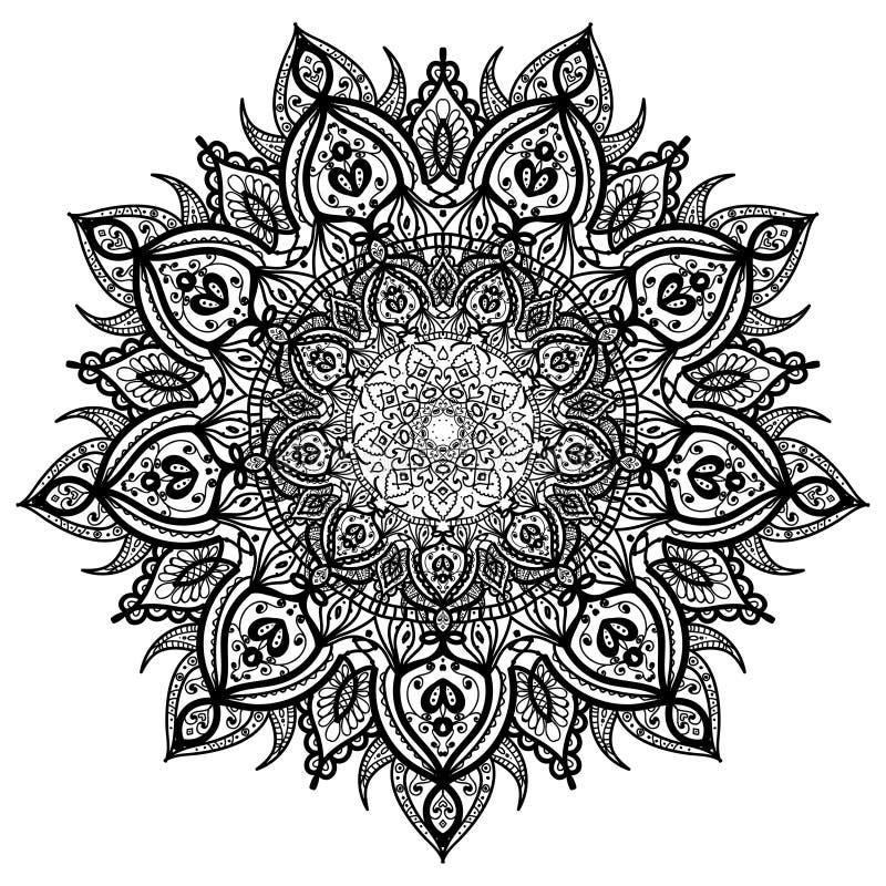 Ensemble d'élément abstrait de conception Mandalas ronds dans le vecteur Calibre graphique pour votre conception illustration stock