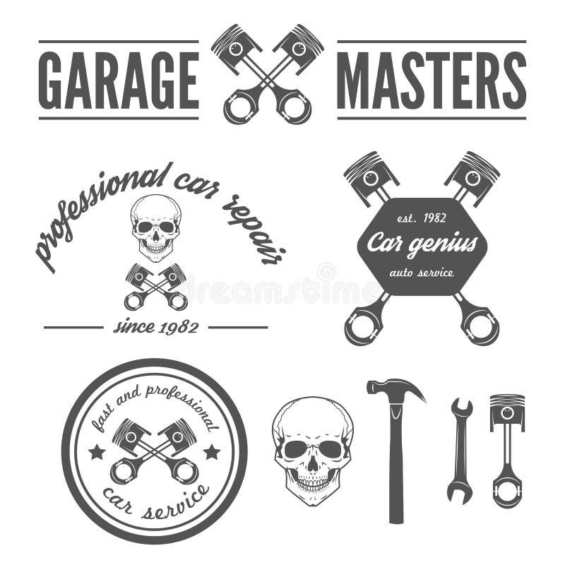 Ensemble d'élément de logo, d'insigne, d'emblème et de logotype illustration de vecteur