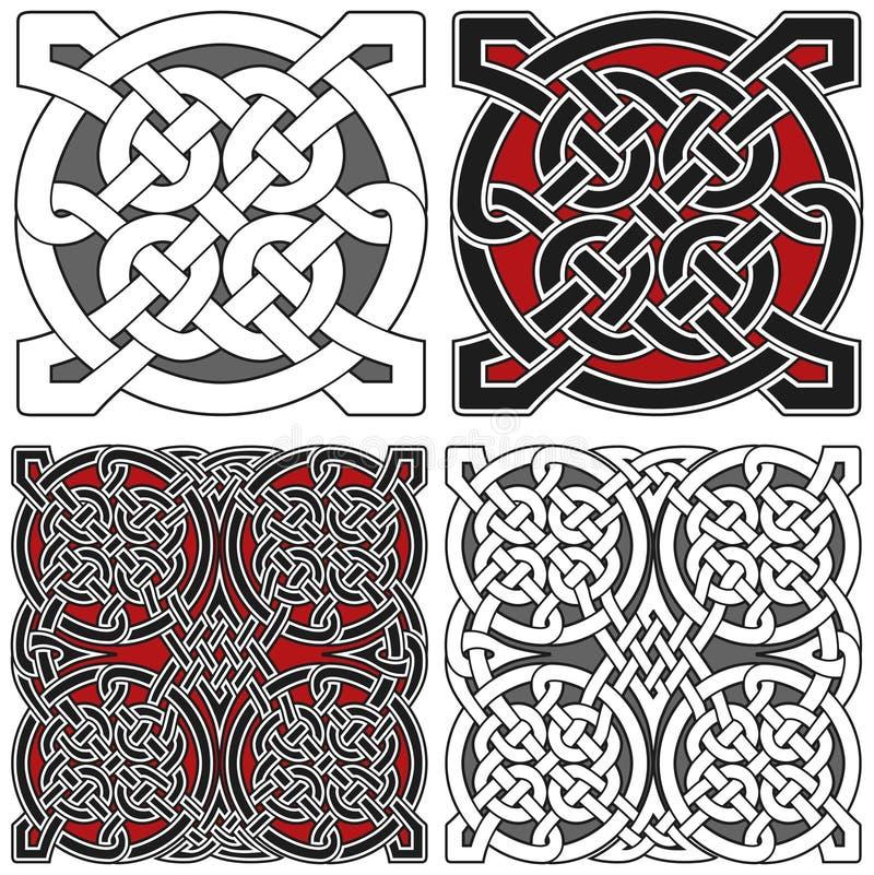 Ensemble d'éléments celtiques de conception illustration de vecteur