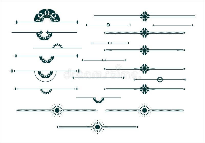 Ensemble d'éléments décoratif graphique illustration libre de droits