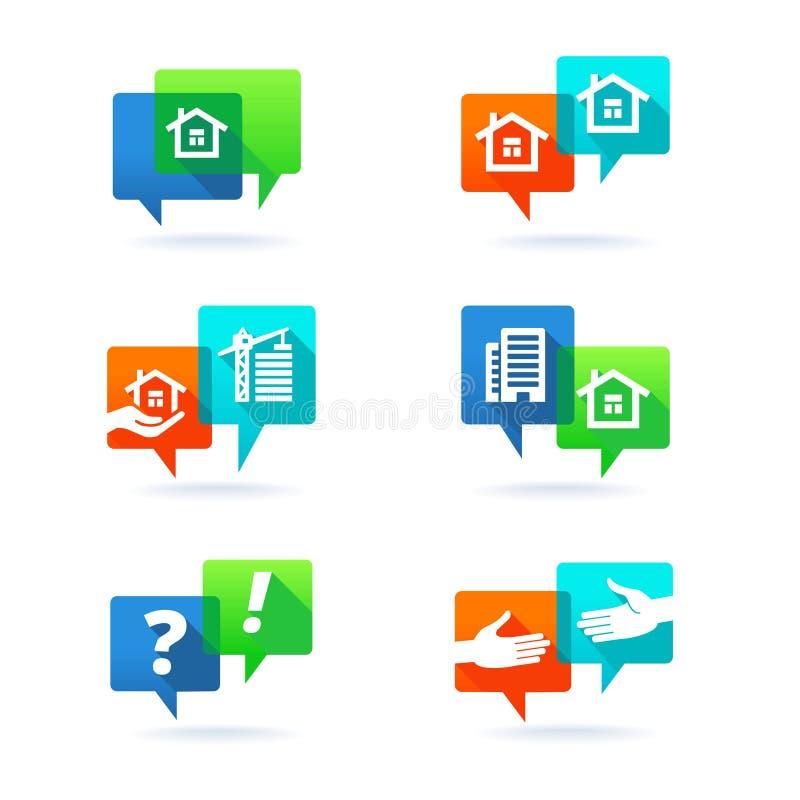 Ensemble d'éléments d'immobiliers illustration libre de droits