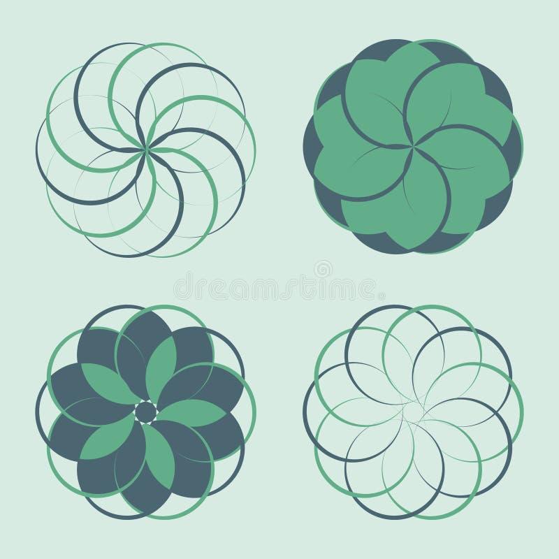 Ensemble d'éléments de conception de logo illustration de vecteur