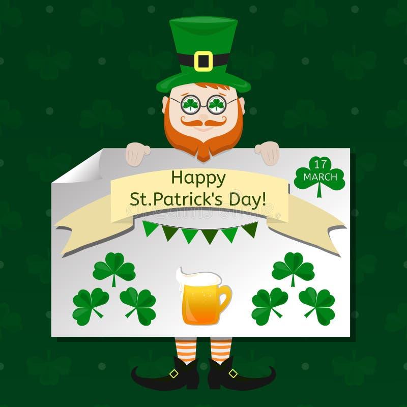 Ensemble d'éléments de conception de vecteur de jour du ` s de St Patrick illustration libre de droits