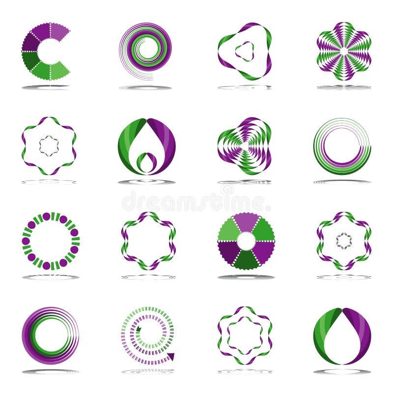 Ensemble d'éléments de conception. Icônes abstraites. illustration de vecteur