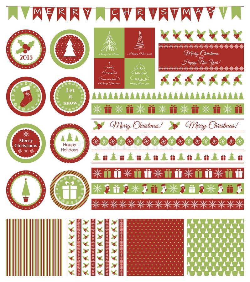 Ensemble d'éléments de conception pour la fête de Noël illustration libre de droits