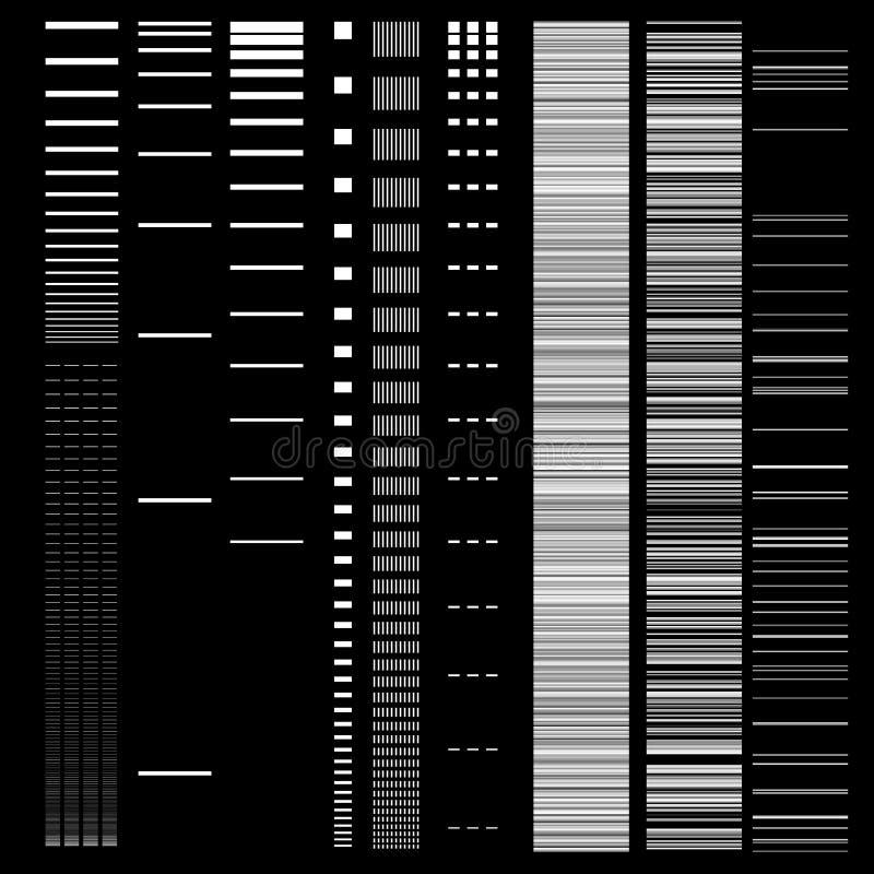Ensemble d'éléments de problème Calibres d'erreur d'écran d'ordinateur Conception d'abrégé sur bruit de pixel de Digital Problème illustration de vecteur