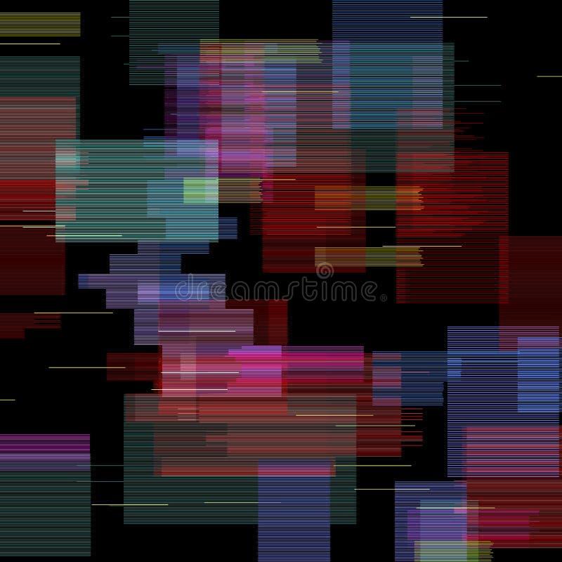 Ensemble d'éléments de problème Conception d'abrégé sur couleur de bruit de pixel de Digital Problème de jeu vidéo Collection de  illustration de vecteur