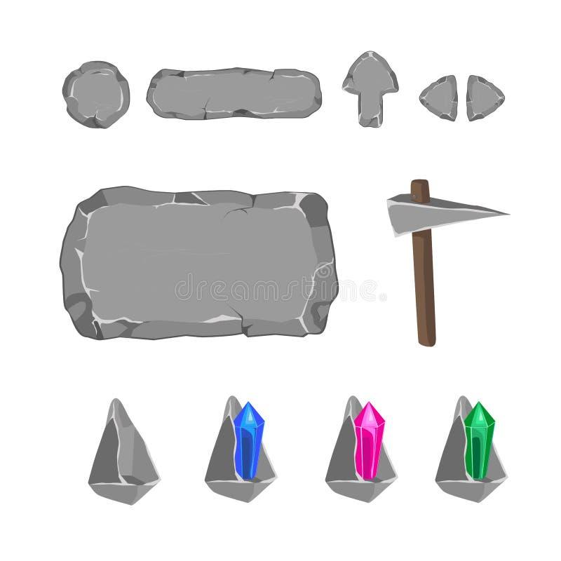 Ensemble d'éléments de vecteur illustration stock