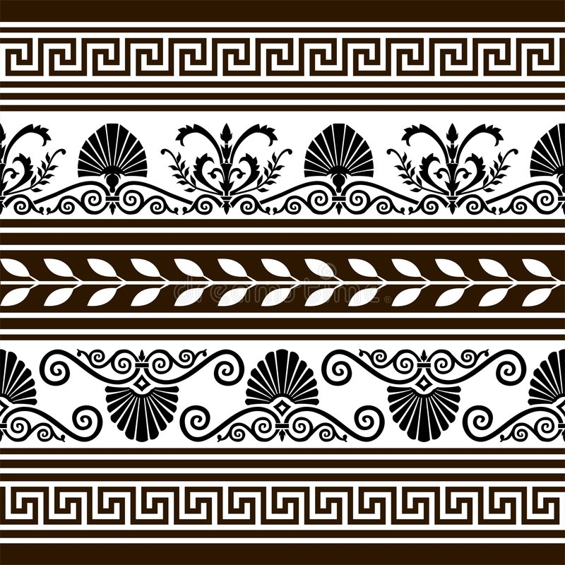 Ensemble d'éléments et de cadres antiques de vecteur illustration stock