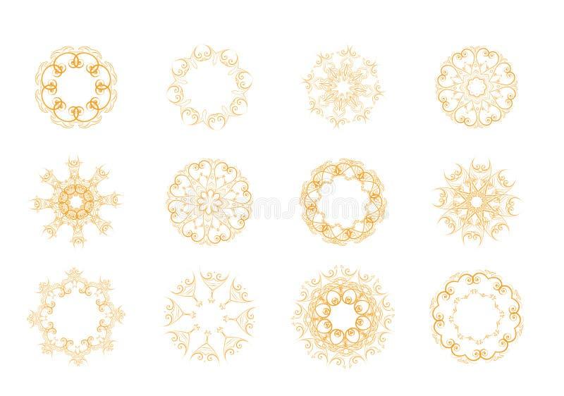 Ensemble d'éléments floraux illustration de vecteur