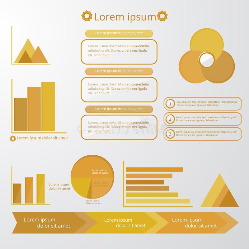 ensemble d'éléments d'Infographic illustration de vecteur