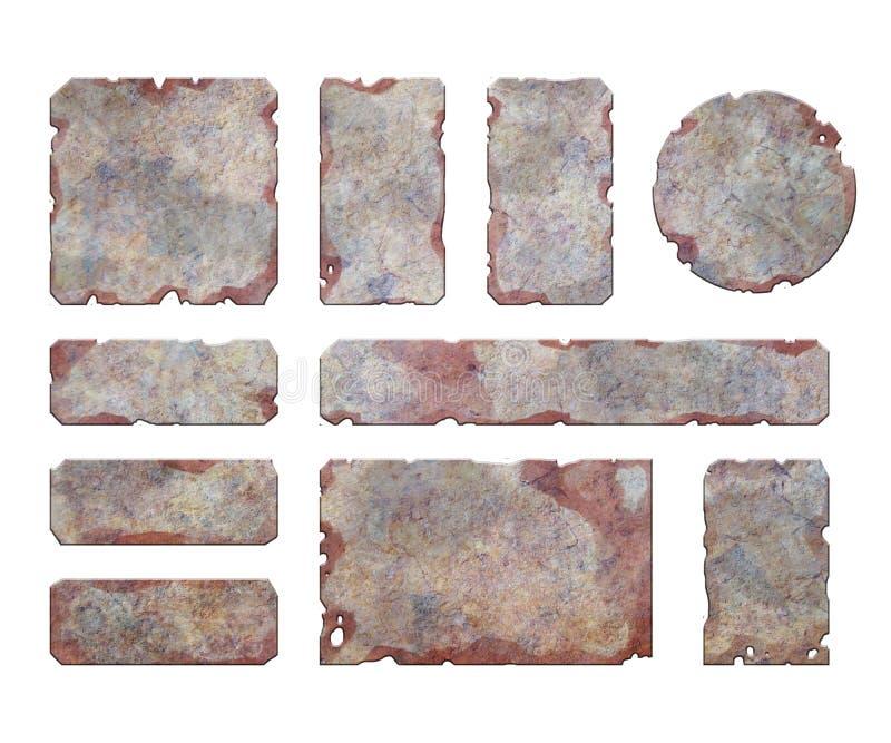Ensemble d'éléments métalliques illustration de vecteur