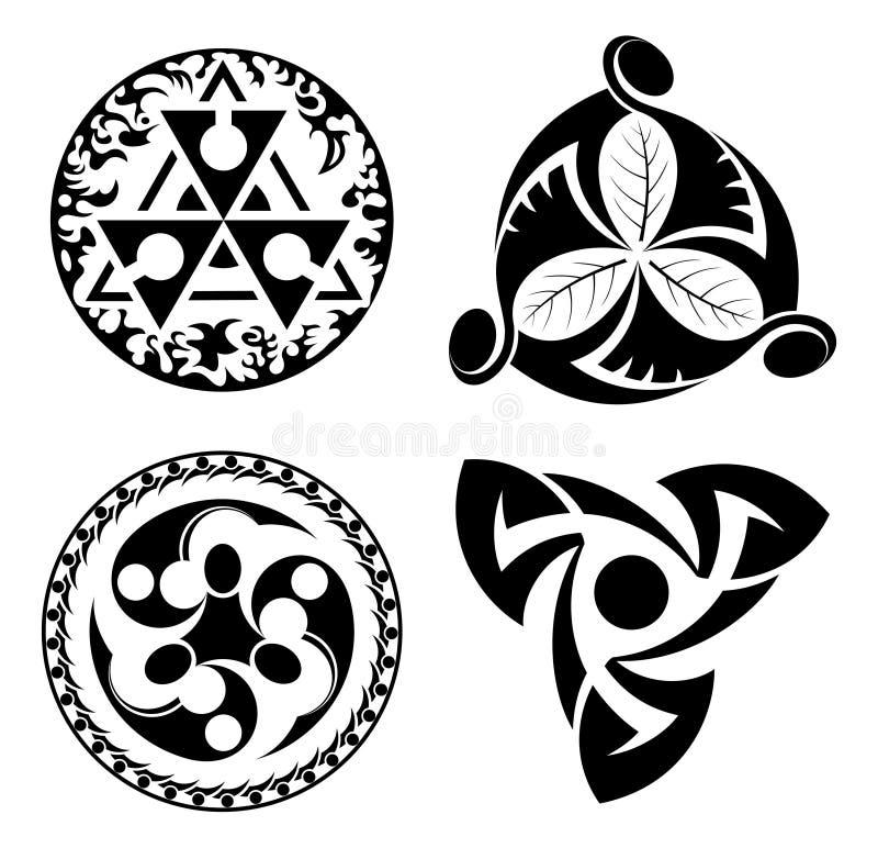 Ensemble d'éléments noirs de conception - logotypes - ENV illustration libre de droits