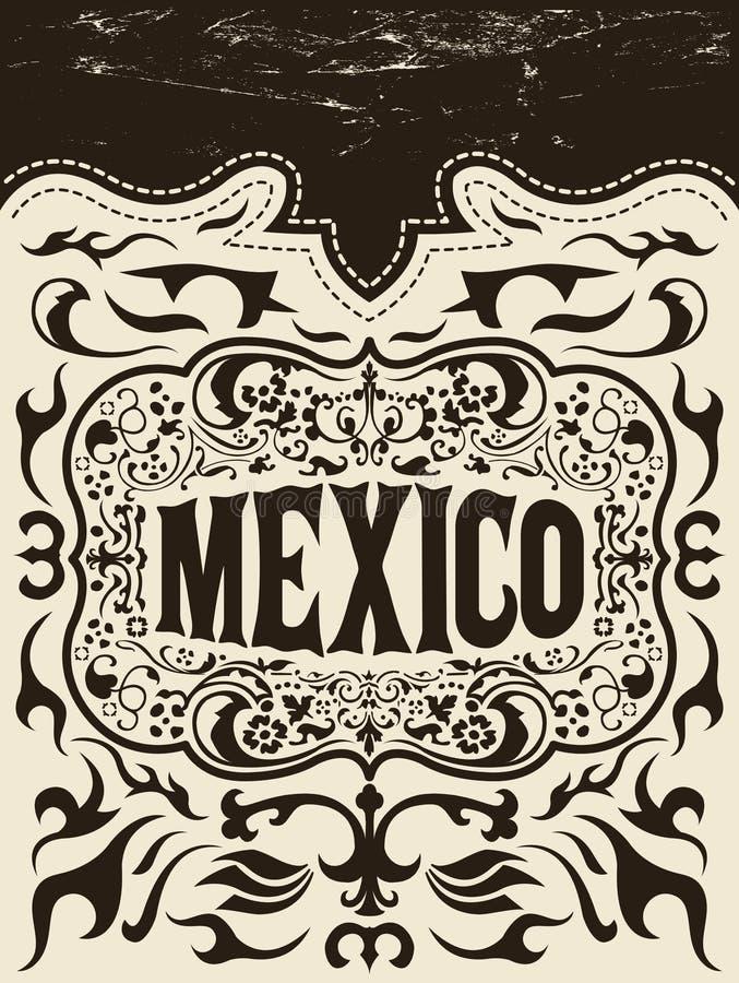 Ensemble d'éléments occidental du Mexique - vacances mexicaines illustration libre de droits