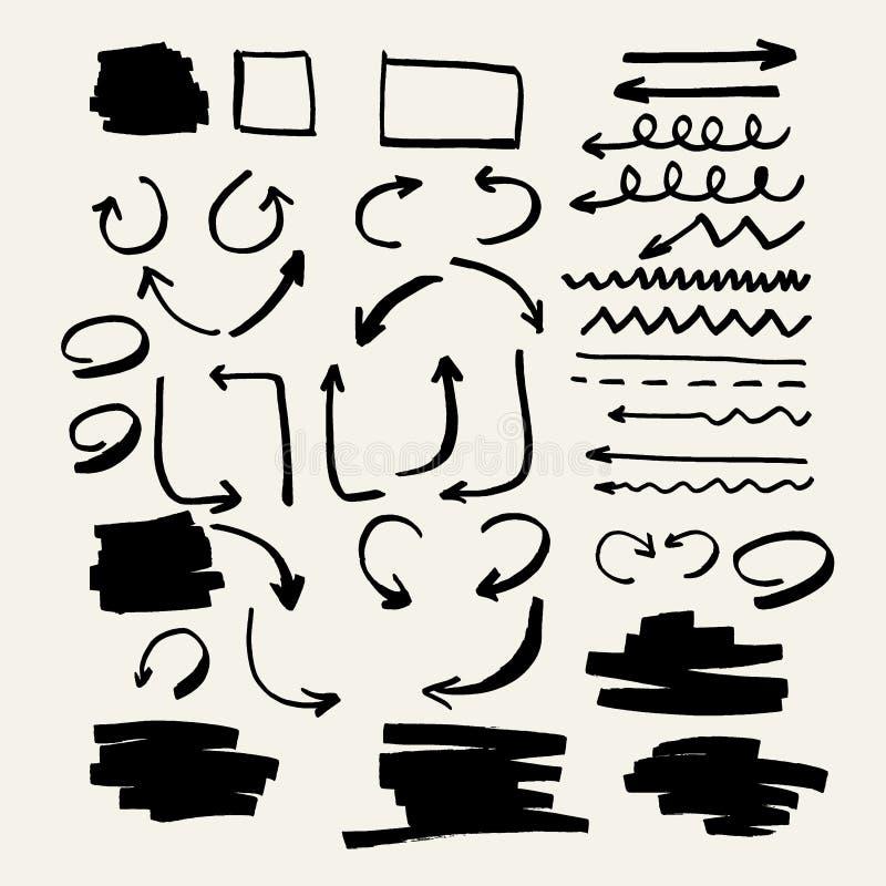 Ensemble d'éléments pour des présentations de marqueur illustration libre de droits