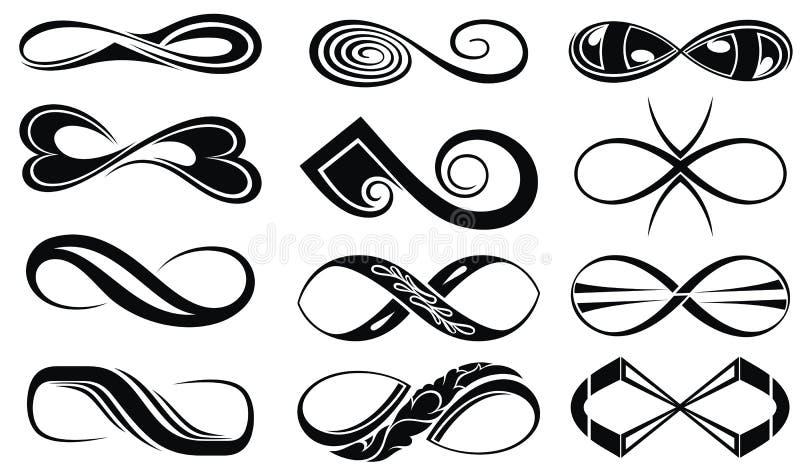 Ensemble d'éléments tribal de conception de tatouage illustration libre de droits