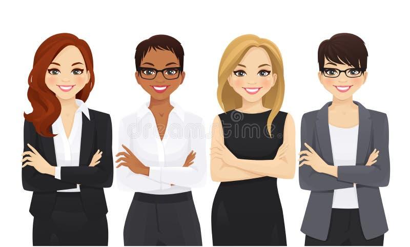 Ensemble d'équipe de femme d'affaires illustration libre de droits