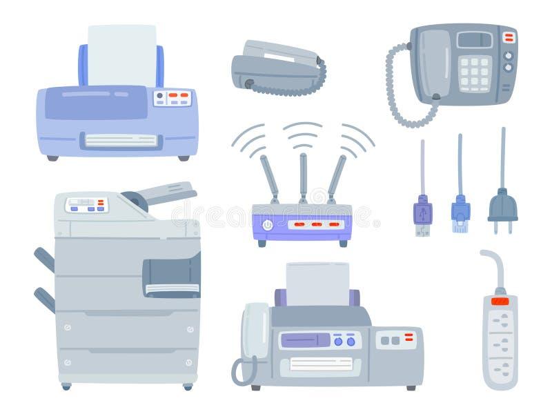 Ensemble d'équipement de bureau illustration stock