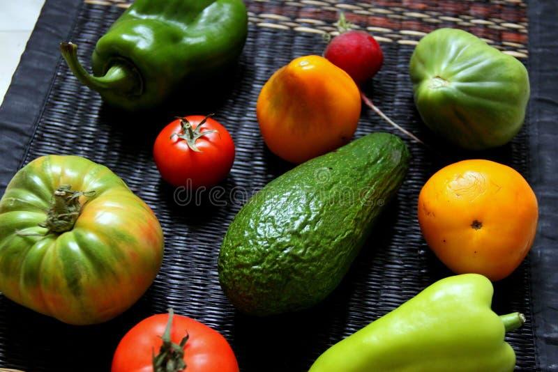 Ensemble d'été de légumes image libre de droits