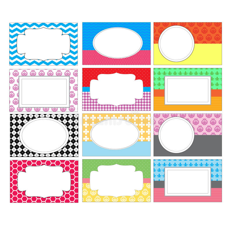 Ensemble d'étiquettes colorées photo libre de droits