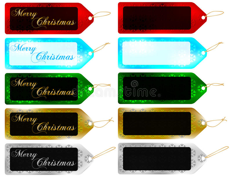 Ensemble d'étiquettes de cadeau de Noël/d'étiquettes de vente illustration stock