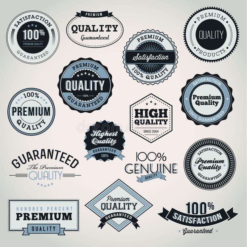 Ensemble d'étiquettes et d'éléments d'affaires illustration de vecteur