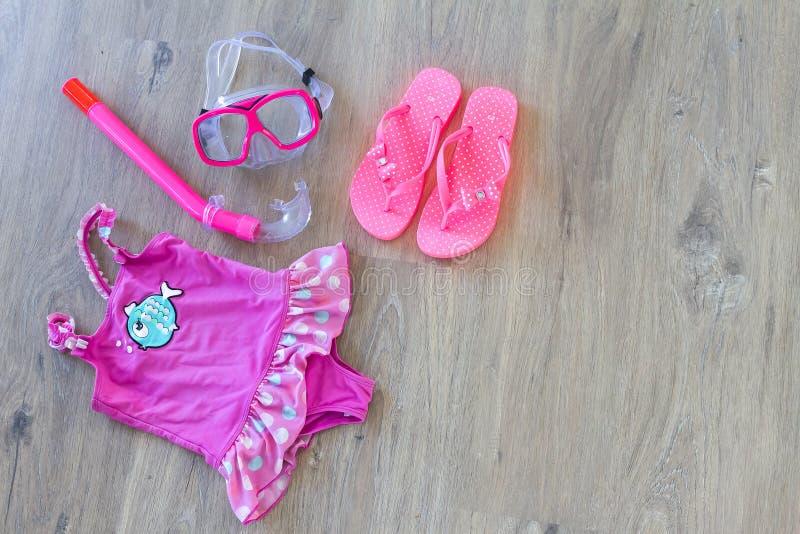 Ensemble d'accessoires de plage images stock