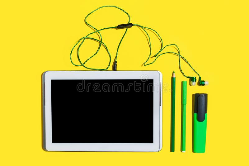 Ensemble d'accessoires et d'instruments d'affaires images stock