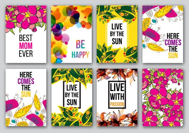 Ensemble d'affiches inspirées illustration libre de droits