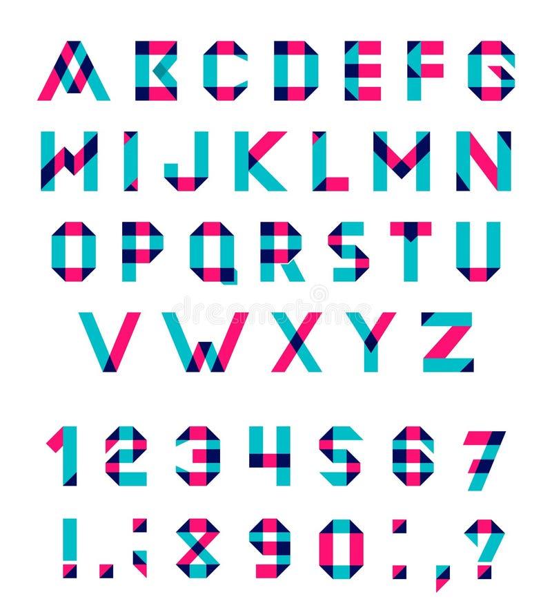 Ensemble d'alphabet de vecteur illustration stock