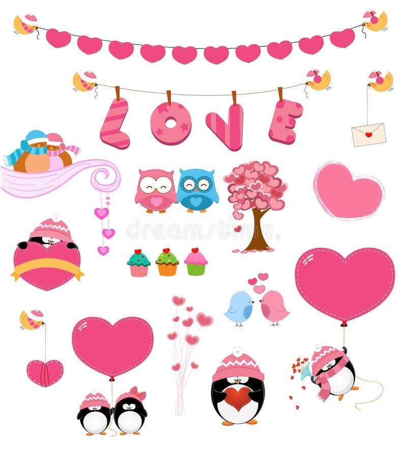Ensemble d'amour illustration stock