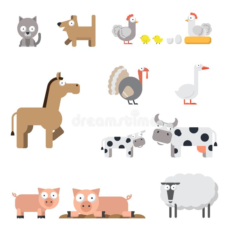 Ensemble d'animal de ferme illustration libre de droits
