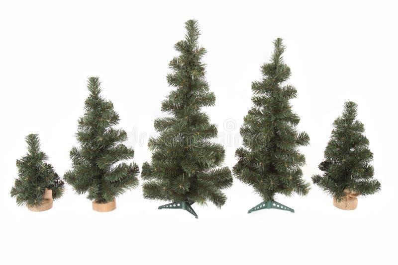 Ensemble d'arbre de Noël d'isolement sur le fond blanc photographie stock