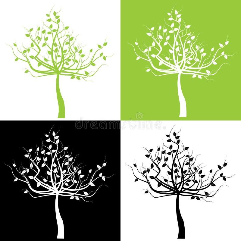 Ensemble d'arbres illustration de vecteur