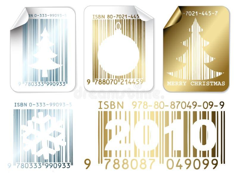 Ensemble d'argent de Noël d'affaires et d'étiquettes d'or illustration libre de droits