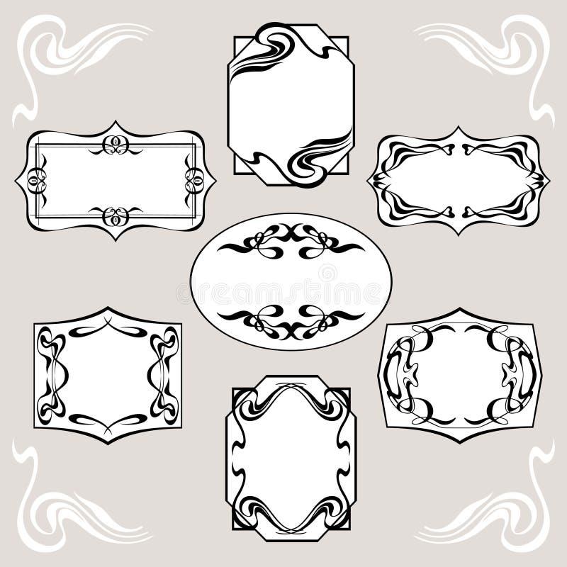 Ensemble d'Art Deco Banners illustration stock