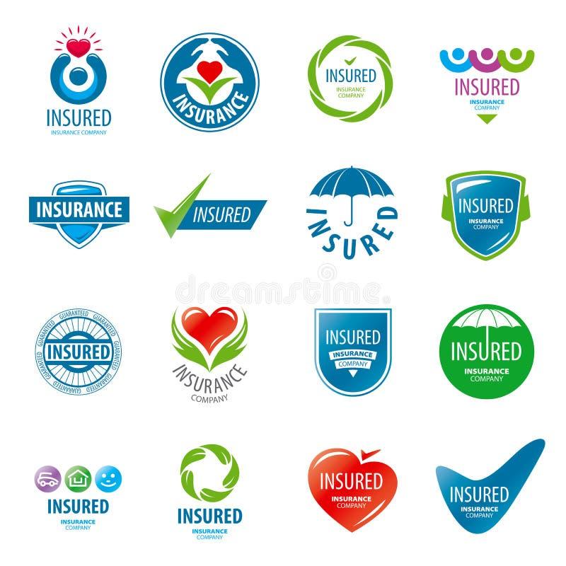 Ensemble d'assurance de logos de vecteur illustration libre de droits