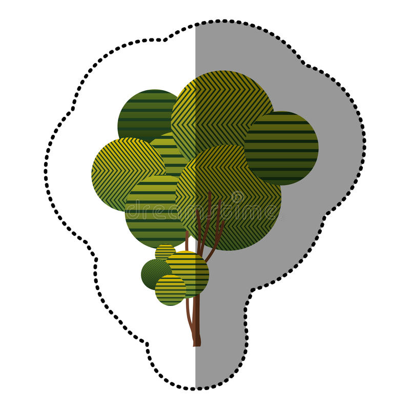 Download Ensemble D'autocollant D'icône Abstraite D'arbre Illustration Stock - Illustration du bouton, ramassage: 87705573