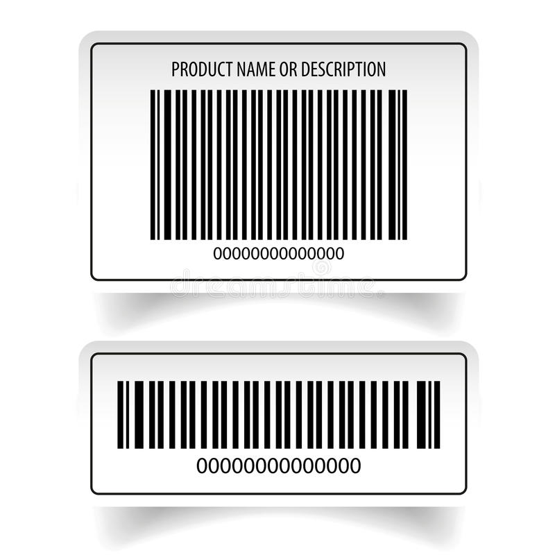 Ensemble d'autocollant de label de code barres illustration libre de droits
