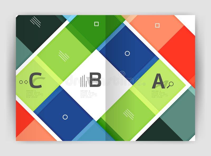 Ensemble d'avant et de pages arrières de la taille a4, calibres de conception de rapport annuel d'affaires illustration de vecteur