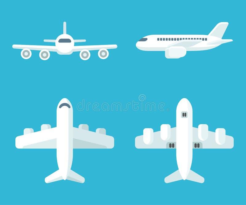 Ensemble d'avion de bande dessinée illustration stock