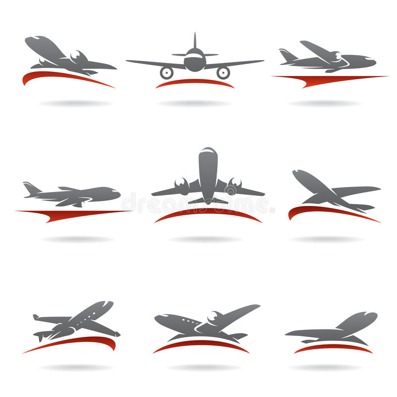 Ensemble d'avion. Vecteur illustration stock