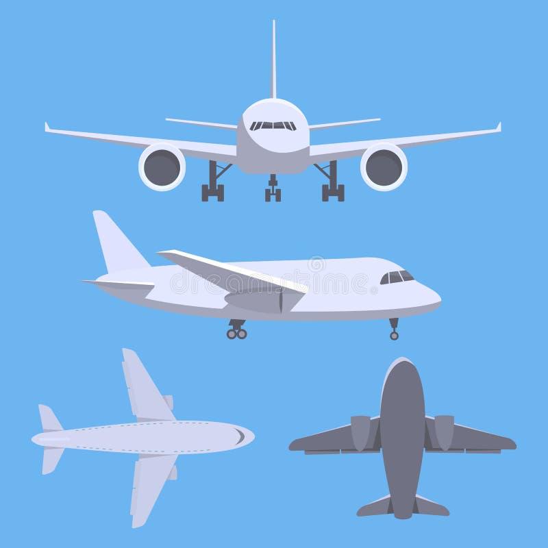Ensemble d'avions illustration de vecteur