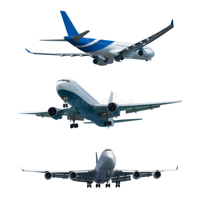 Ensemble d'avions d'un avion à réaction photo libre de droits